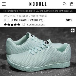 Blue Glass NoBull Trainers